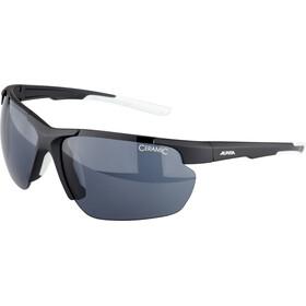 Alpina Defey HR Glasses, black matt/white/black mirror